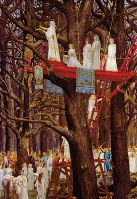 Druids Cutting the Mistletoe on the Sixth Day of the Moon Fine Art Print by Henri-Paul Motte