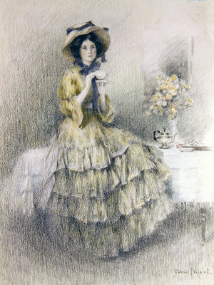 Afternoon Tea Fine Art Print by Gabriel Nicolet