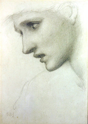 Female head in profile to the left Fine Art Print by Sir Edward Burne-Jones