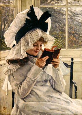Reading a Book, 1872-73 Fine Art Print by James Jacques Joseph Tissot