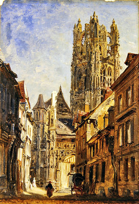 St Laurent Church, Rouen, c.1860 Wall Art & Canvas Prints by William Parrott