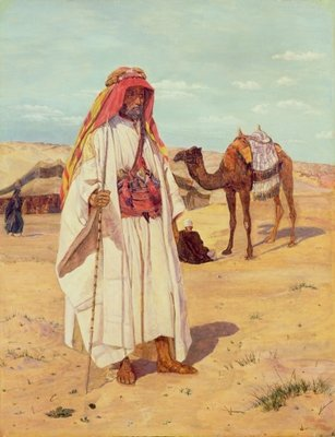 Arab Shaykh Fine Art Print by Thomas Seddon