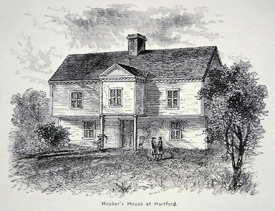 Thomas Hooker's house at Hartford, Connecticut Fine Art Print by American School