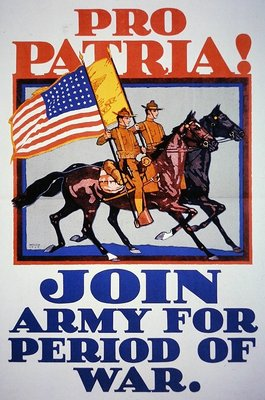 'Pro Patria! Join Army For Period of War.', World War One, 1917 Poster Art Print by American School