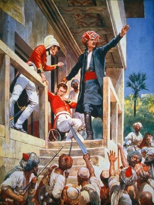 The Afghans kill Sir Alexander Burnes in Kabul, November 1841 Poster Art Print by Richard Caton Woodville