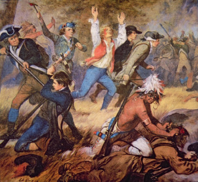 The Massacre of Wyoming Valley in July 1778 Fine Art Print by Alonzo Chappel
