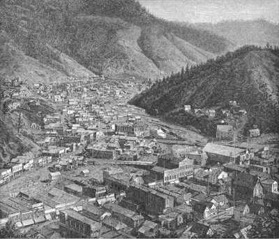 Deadwood, The Black Hills, illustration from 'Harper's New Monthly Magazine', February 1889 Fine Art Print by American Photographer