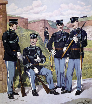 U.S. infantry full dress 1902-07 armed with U.S. magazine rifle model 1903 Postcards, Greetings Cards, Art Prints, Canvas, Framed Pictures, T-shirts & Wall Art by Henry Alexander Ogden