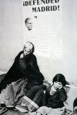 People of Madrid made homeless after rebel bombardment Fine Art Print by Spanish Photographer