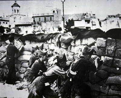 Republican troops at the Siege of Alcazar, Toledo, 1936 Fine Art Print by Spanish Photographer