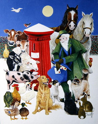 Christmas Post Fine Art Print by Pat Scott