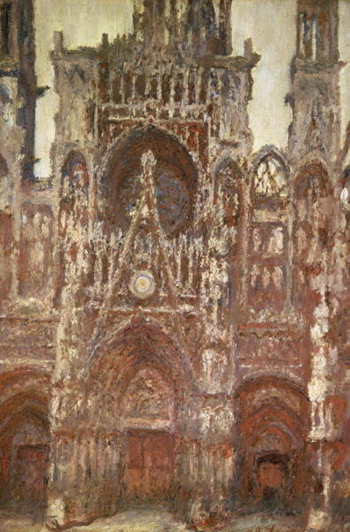 Rouen Cathedral, evening, harmony in brown, 1894 Poster Art Print by Claude Monet