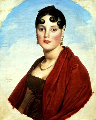 Portrait of Madame Aymon, or La Belle Zelie, 1806 Postcards, Greetings Cards, Art Prints, Canvas, Framed Pictures, T-shirts & Wall Art by Jean Auguste Dominique Ingres
