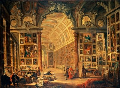 Interior View of The Colonna Gallery, Rome Fine Art Print by Giovanni Paolo Pannini or Panini