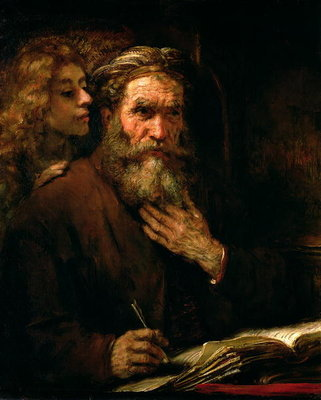 St. Matthew and The Angel, 1655-60 Poster Art Print by Rembrandt Harmensz. van Rijn
