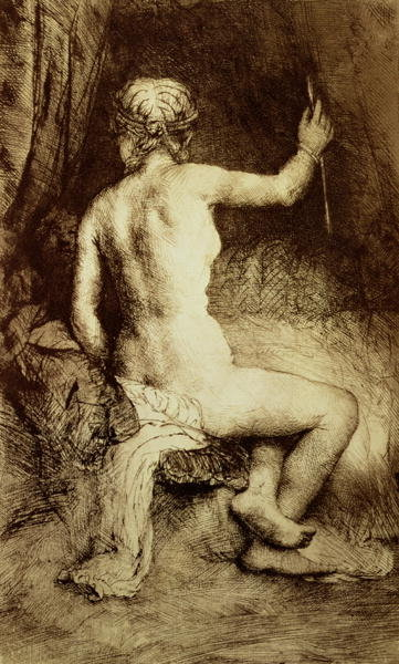 The Woman with the Arrow, 1661 Fine Art Print by Rembrandt Harmensz. van Rijn