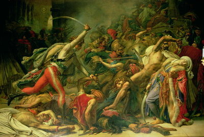 The Revolt at Cairo, 21st October 1798, 1810 Fine Art Print by Anne Louis Girodet de Roucy-Trioson