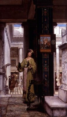 In the Temple, 1871 Wall Art & Canvas Prints by Sir Lawrence Alma-Tadema