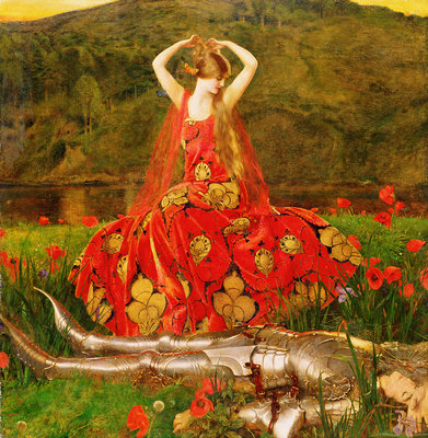 La Belle Dame Sans Merci, 1926 Wall Art & Canvas Prints by Frank Cadogan Cowper