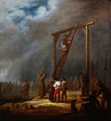 An Execution at a Gallows Poster Art Print by Pieter Meulener