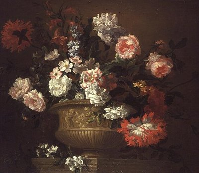 Still Life of Flowers in an Urn Fine Art Print by Pieter Casteels