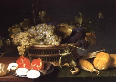 Still Life of Fruits Fine Art Print by Jacob Foppens van Es