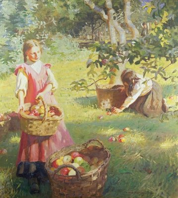 Apples, 1912 Poster Art Print by Harold Harvey