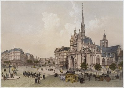 Church of St. Laurent, Paris, illustration from 'Paris dans sa splendeur', published by Henri Charpentier, 1861 Poster Art Print by Philippe Benoist