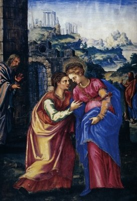 Visitation, from a facsimile of the Breviary of King Philip II of Spain, 1569 Wall Art & Canvas Prints by Julian Fuente del Saz