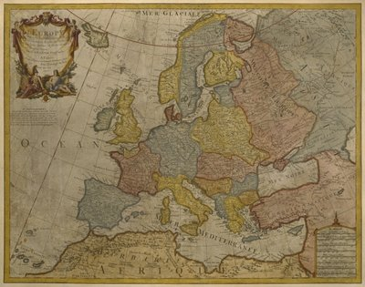 Map of Europe, published in 1700, Paris Wall Art & Canvas Prints by Guillaume Delisle