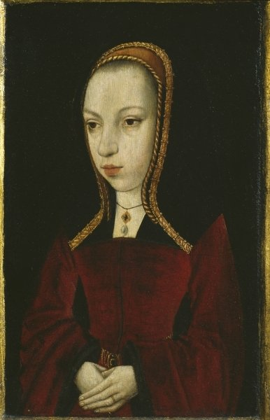 Portrait of Margaret of Austria, c.1495 Fine Art Print by Master of the Legend of the Magdalen