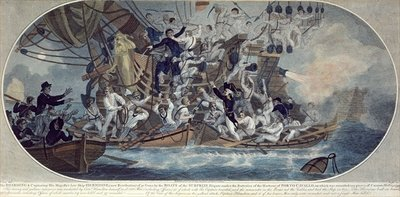 The boarding and capturing of His Majesty's late ship, Hermione Wall Art & Canvas Prints by Elms