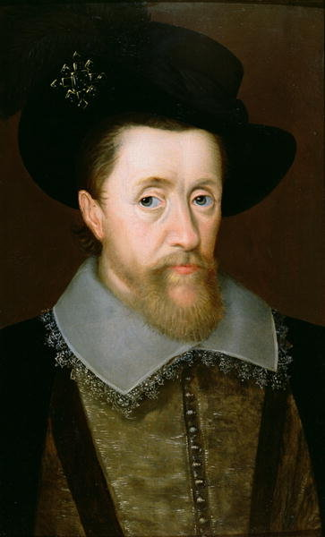 Portrait of James VI of Scotland and I of England Fine Art Print by John de Critz