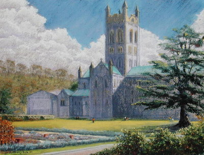 Early Spring, Buckfast Abbey, 2001 Fine Art Print by Anthony Rule