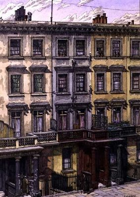London Terrace Fine Art Print by Charles Ginner