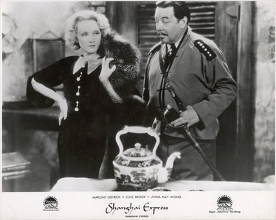 "Still from the film ""Shanghai Express"" with Marlene Dietrich and Warner Oland, 1932 Fine Art Print by German Photographer"