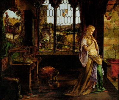 The Lady of Shalott, 1858 Wall Art & Canvas Prints by William Maw Egley