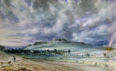 Old Sarum Fine Art Print by John Constable