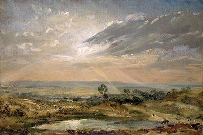 Branch Hill Pond, Hampstead Fine Art Print by John Constable