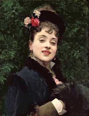 Aline Masson, the Artist's Model Fine Art Print by Raimundo de Madrazo y Garetta