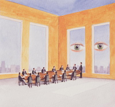 Corporate Governance, 2003 (acrylic on paper) Wall Art & Canvas Prints by Lincoln Seligman