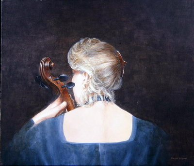 Cello Professor, 2005 (acrylic) Wall Art & Canvas Prints by Lincoln Seligman