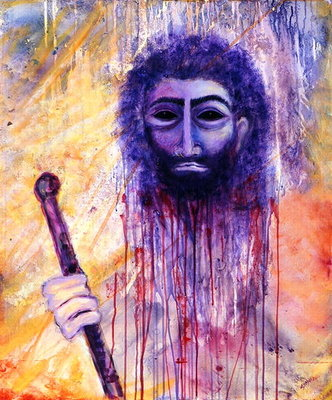 Baptist, 2000 (acrylic on canvas) Wall Art & Canvas Prints by Laila Shawa