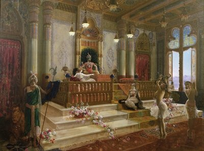 The Maharajah's Favourite, c.1870 Fine Art Print by Charles Albert Pesnelle