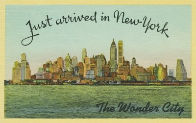 Just arrived in New York, The Wonder City, c.1940 Fine Art Print by American School