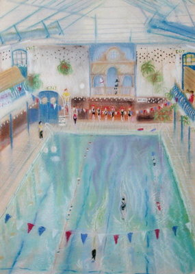 Chelsea Swimming Baths, 1997 Fine Art Print by Sophia Elliott