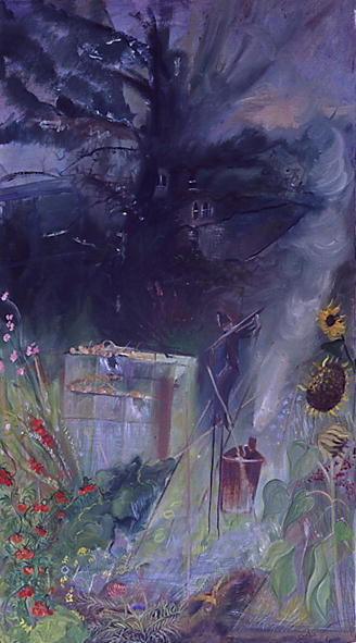 Allotment, 2000 (oil on canvas) Wall Art & Canvas Prints by Sophia Elliot