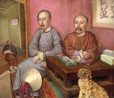Chinese Merchants Fine Art Print by Carl Peter Mazer