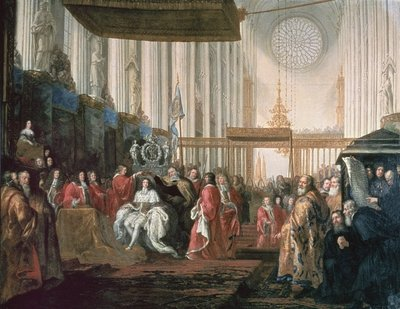 Coronation of Karl XI Fine Art Print by David Klocker Ehrenstrahl