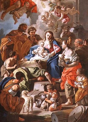 The Adoration of the Shepherds Fine Art Print by Francesco de Mura